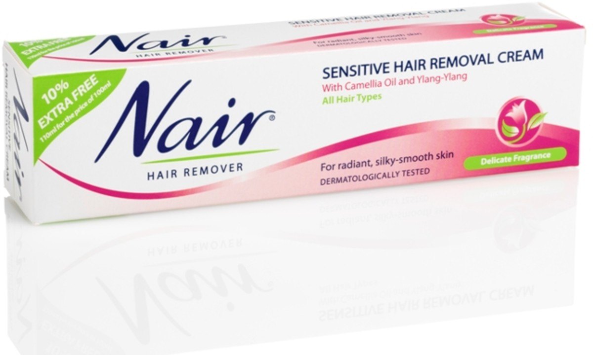 Use a sensitive depilatory cream to remove the bulk of unwanted hair before plucking.