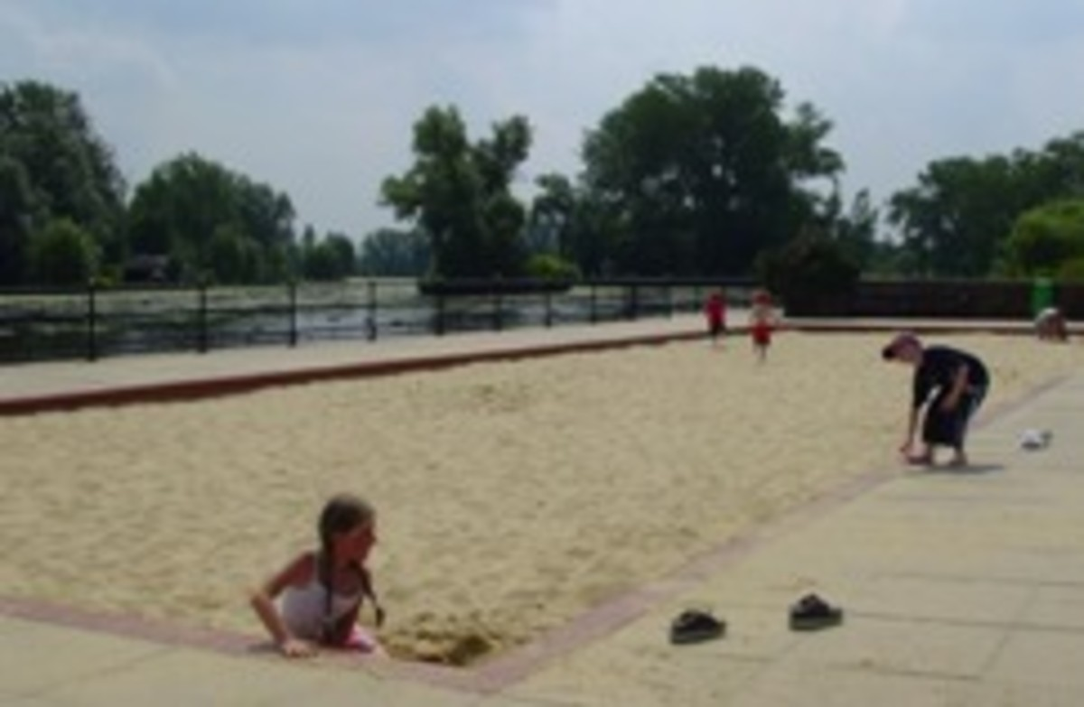 Enormous sandpit for the kids to play
