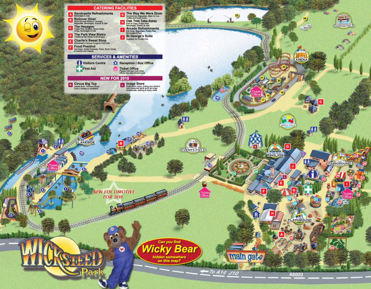 Map of Wicksteed