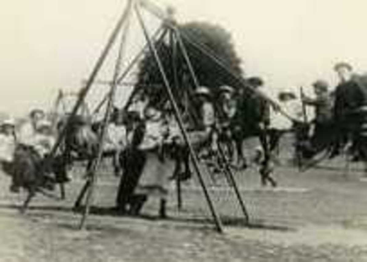 The first playground swing