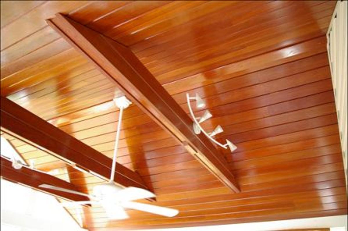 Cambera Philippine mahogany wood ceiling