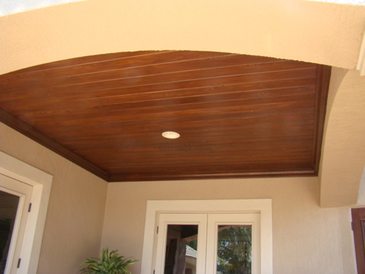 oak wood ceiling