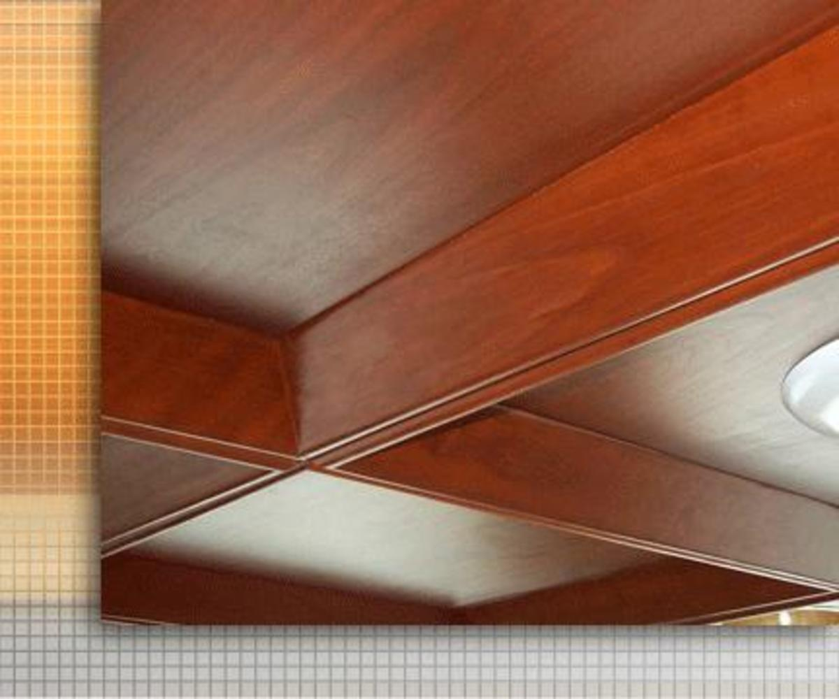 acoustical wood ceiling system