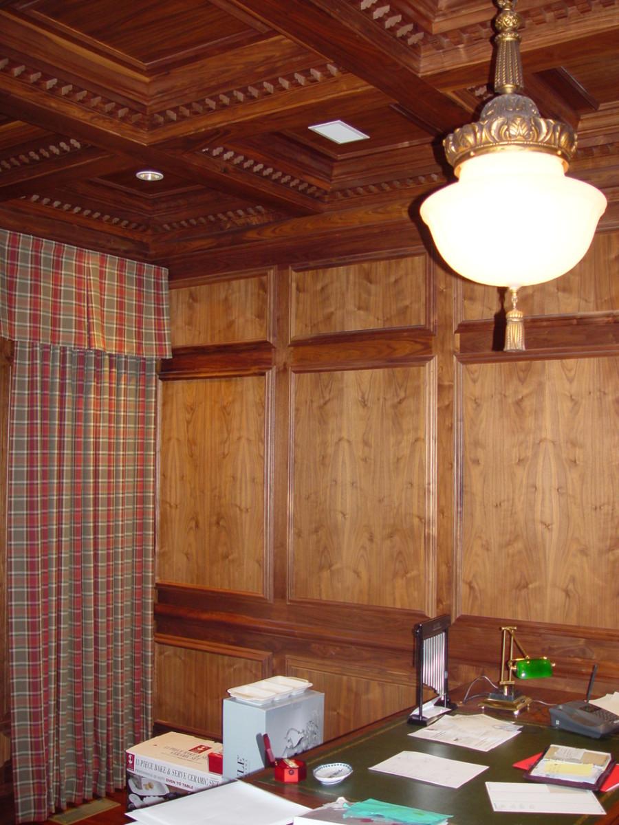 walnut wood ceiling
