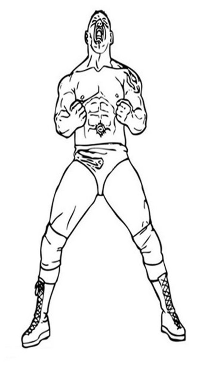 WWE WWF Wrestling John Cena Raw Kids Coloring Pages Free