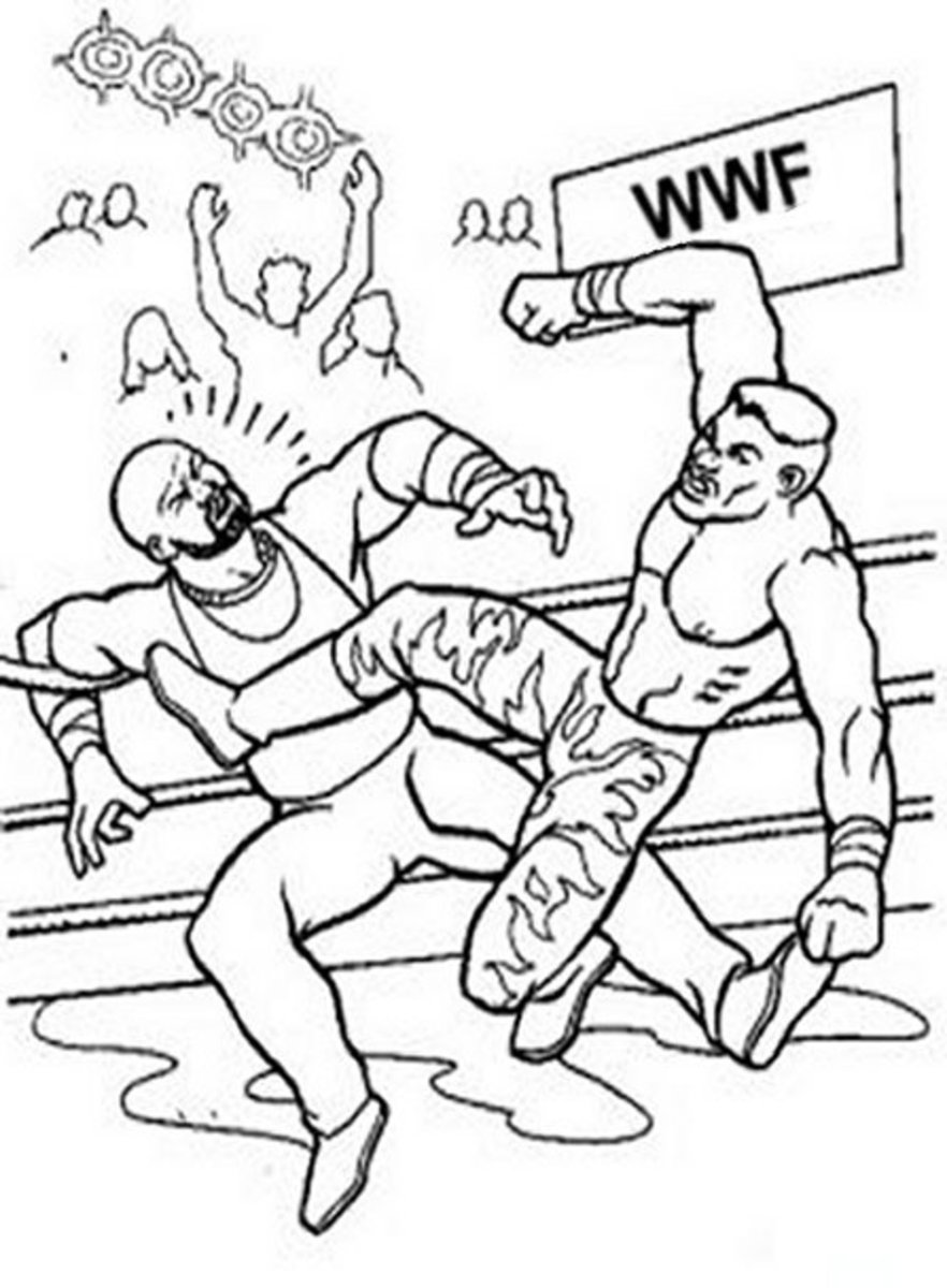 Wwe wwf wrestling raw john cena kids coloring pages for Wwe raw coloring pages
