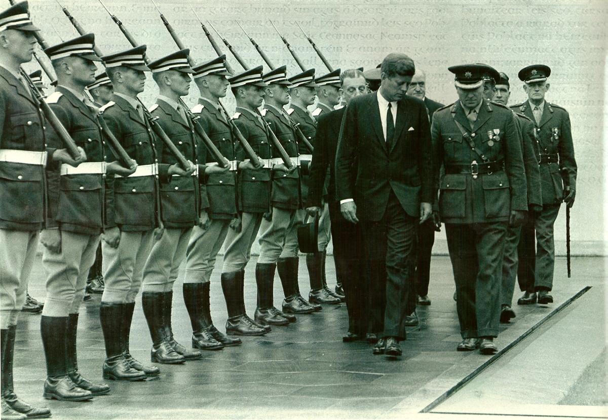 John F Kennedy at Arbour Hill Memorial Park in Dublin Ireland in 1963.