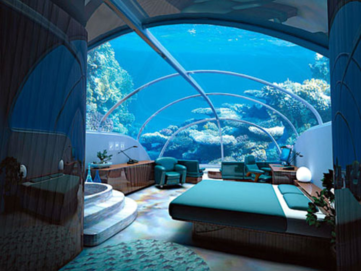 Hotels, The Worlds Ultimate Underwater Hotels, Fiji, Dubai & Florida.