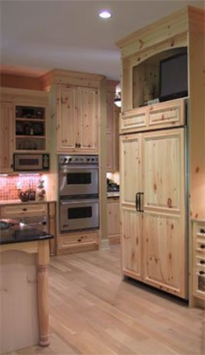 Kitchen Wood Refrigerator Door