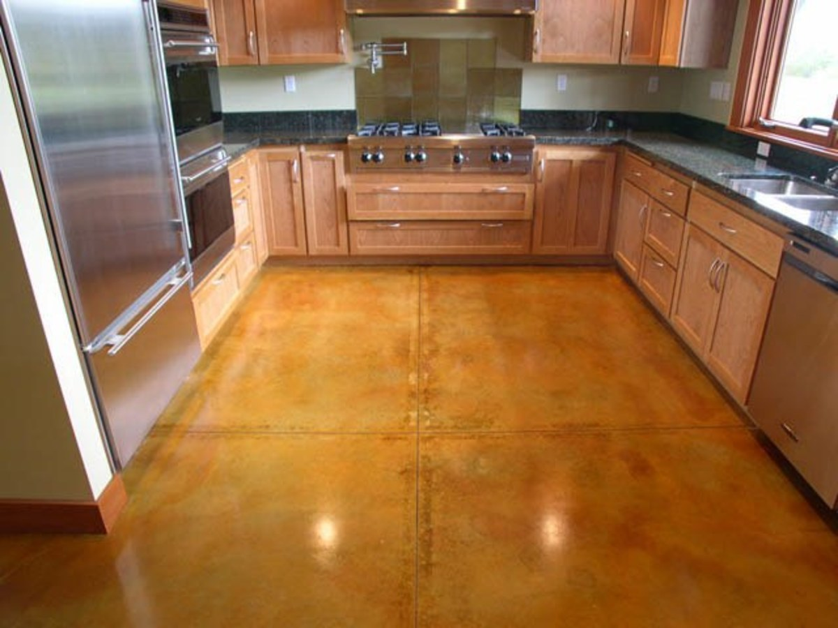 Kitchen Idea - Acid Stain Concrete