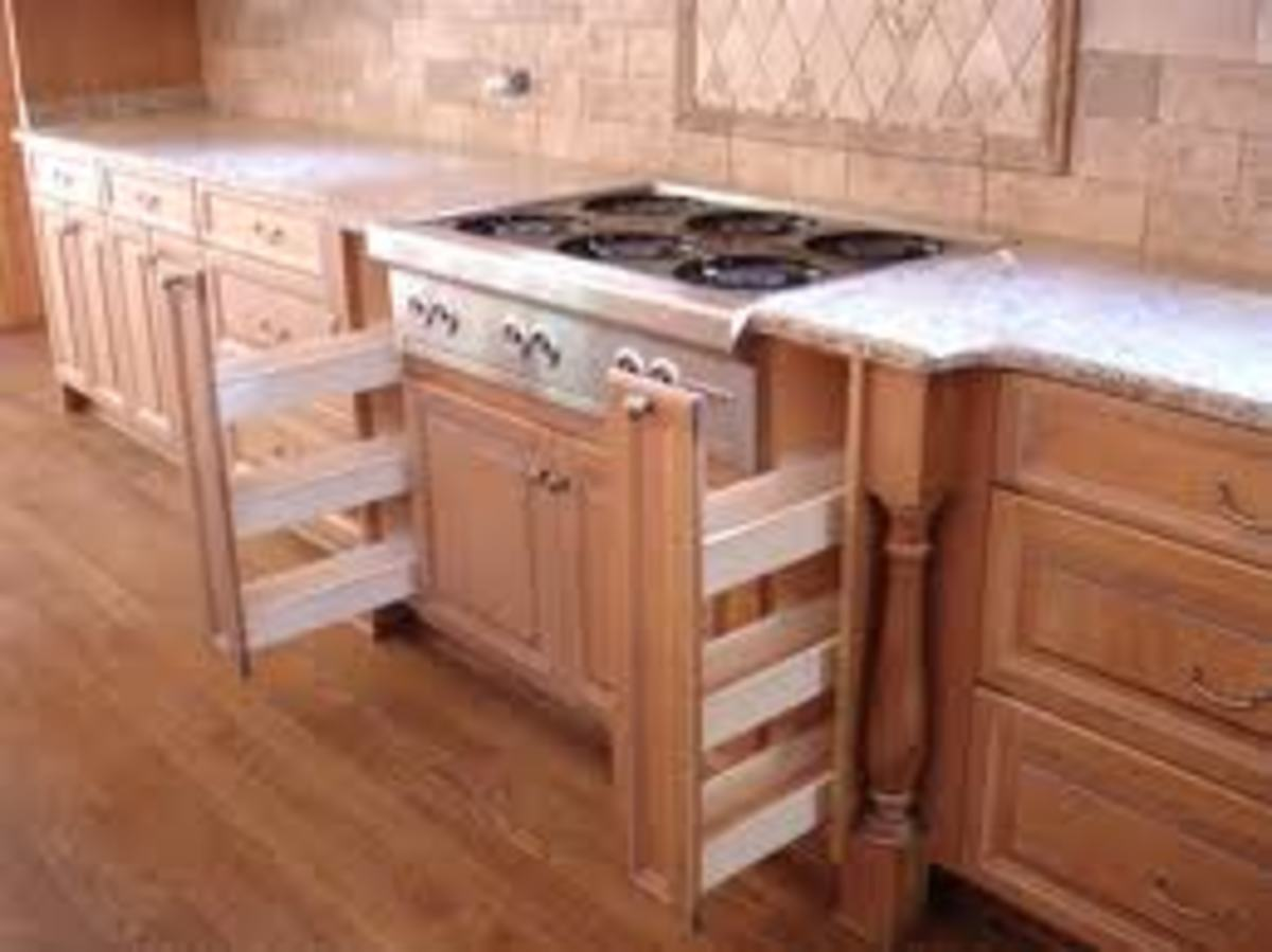 Spice Rack in a drawer style or pull out cabinet