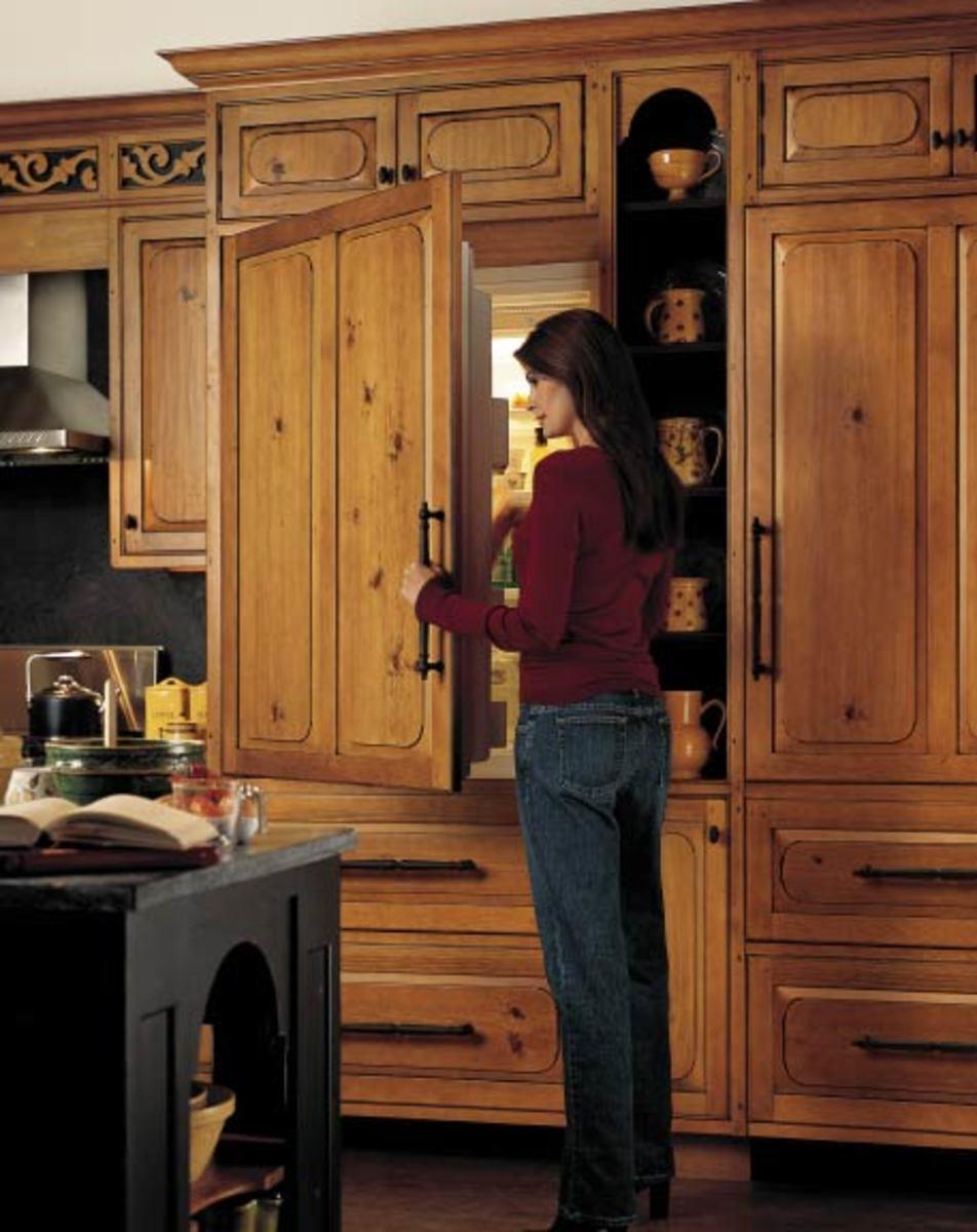 Kitchen Wood Refrigerator Door