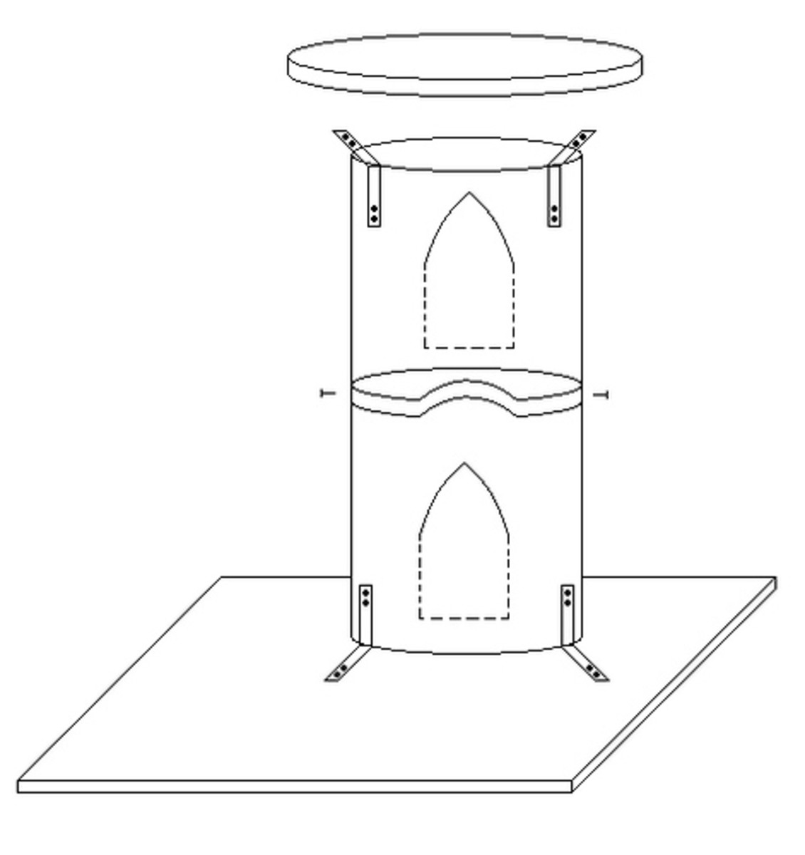 Free Cat Tree Plans » Woodwork City