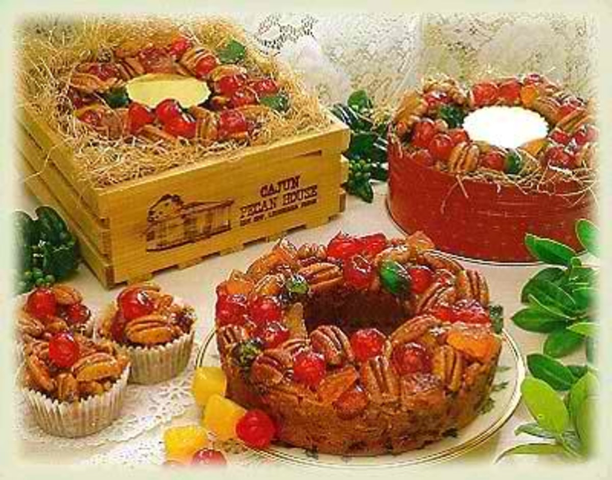 Fruitcake- a must for  Christmas (Photo courtesy of http://cajunpecanhouse.com/)