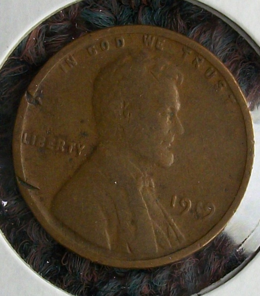 Close up obverse view...