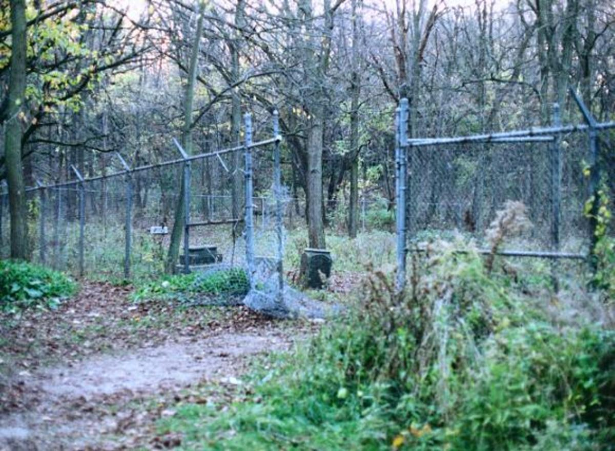 Even the gates show the ravages of time and the effects of neglect