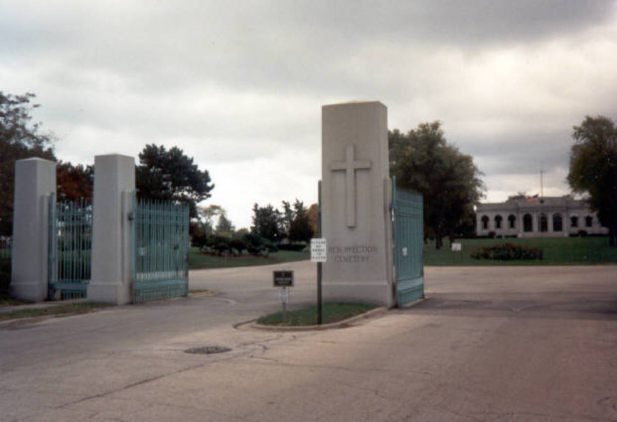 The gates of Resurrection Cemetery