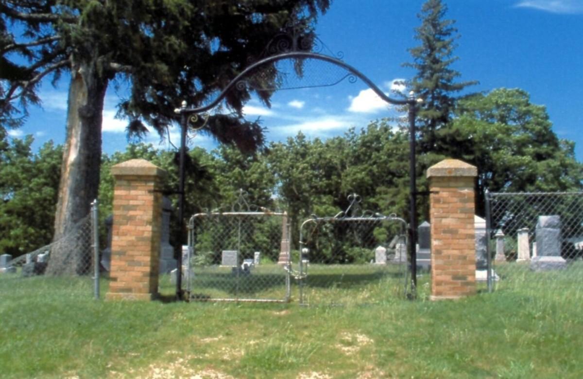 The gates of Bloods Point Cemetery.  Photo by David Wrzesinski-Smith