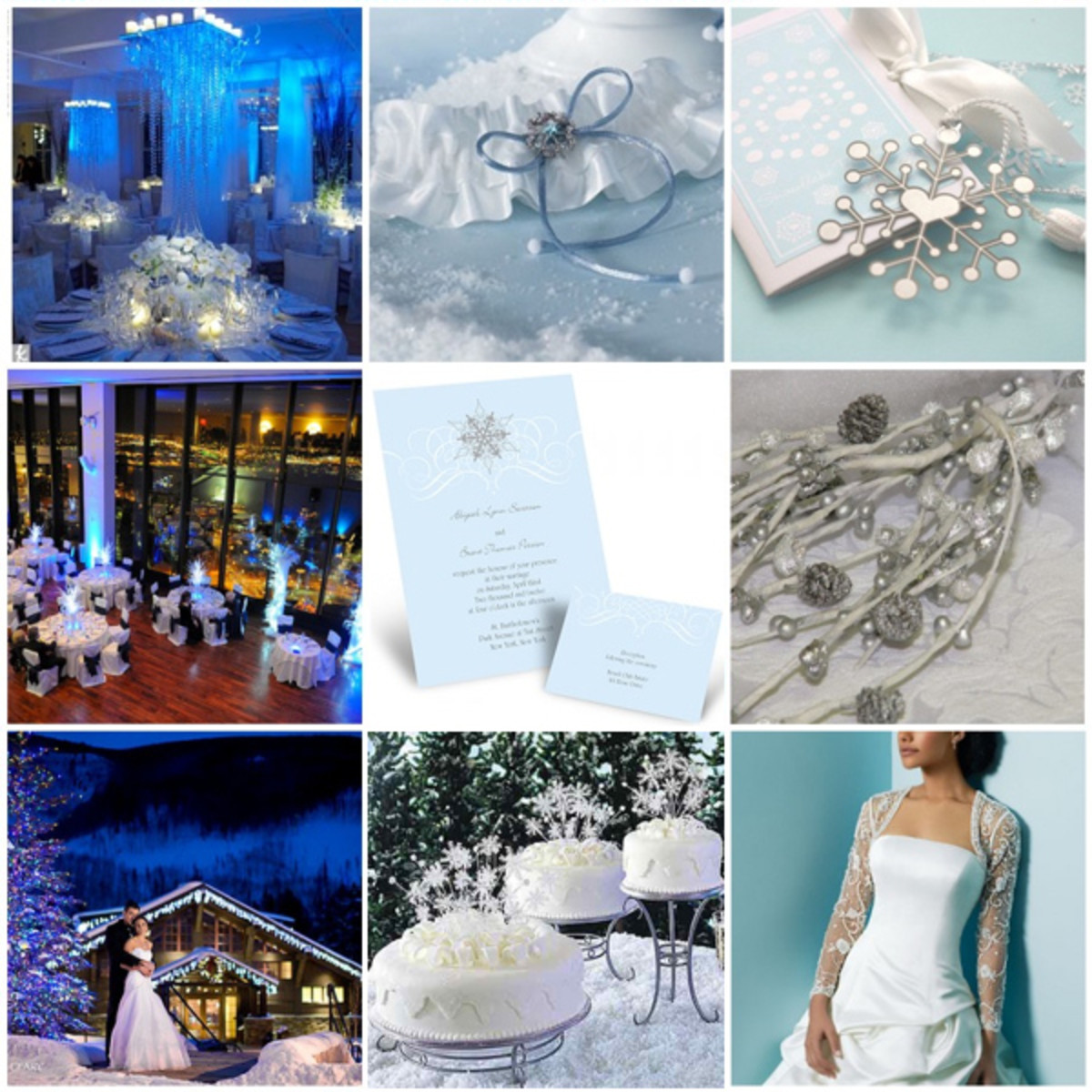 Source Winter Wedding Inspiration Board