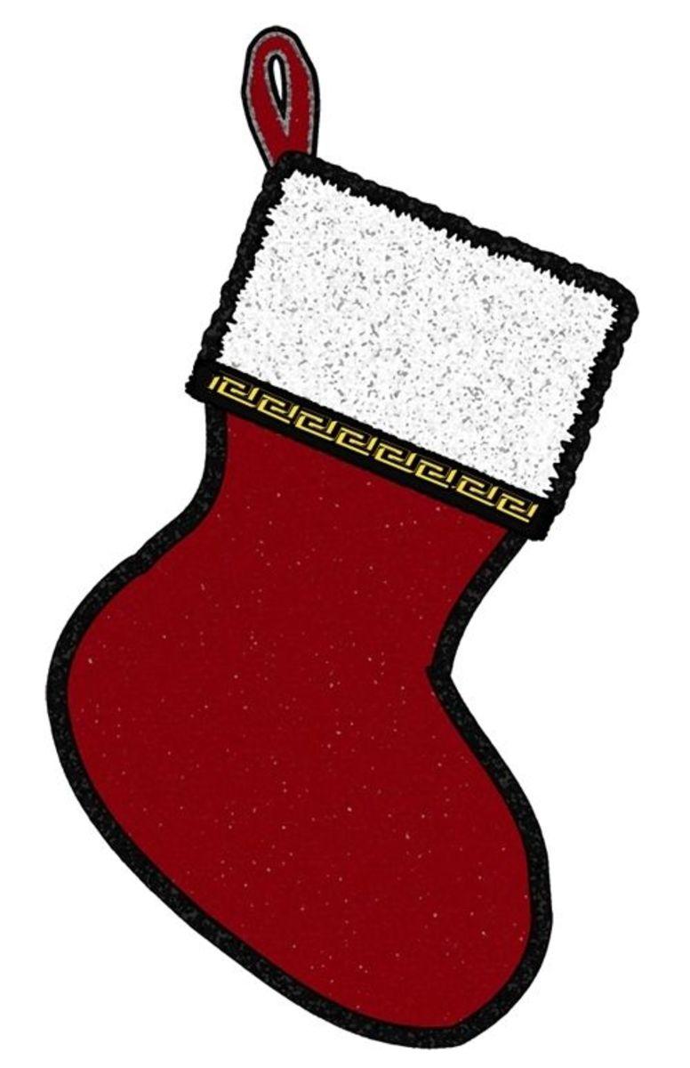 Christmas Stocking Clip Art  Flipped