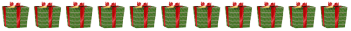 Christmas Gifts Clipart Border