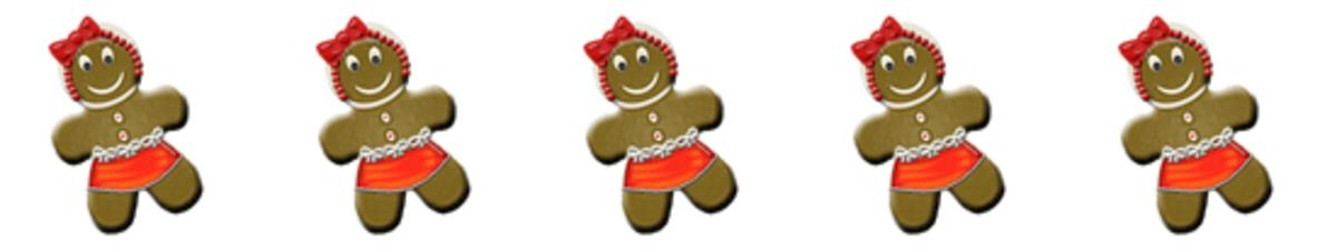 Gingerbread Woman Divider