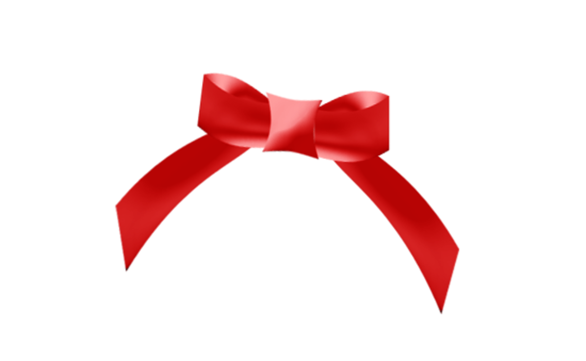 Red Gift Bow Holiday Clipart