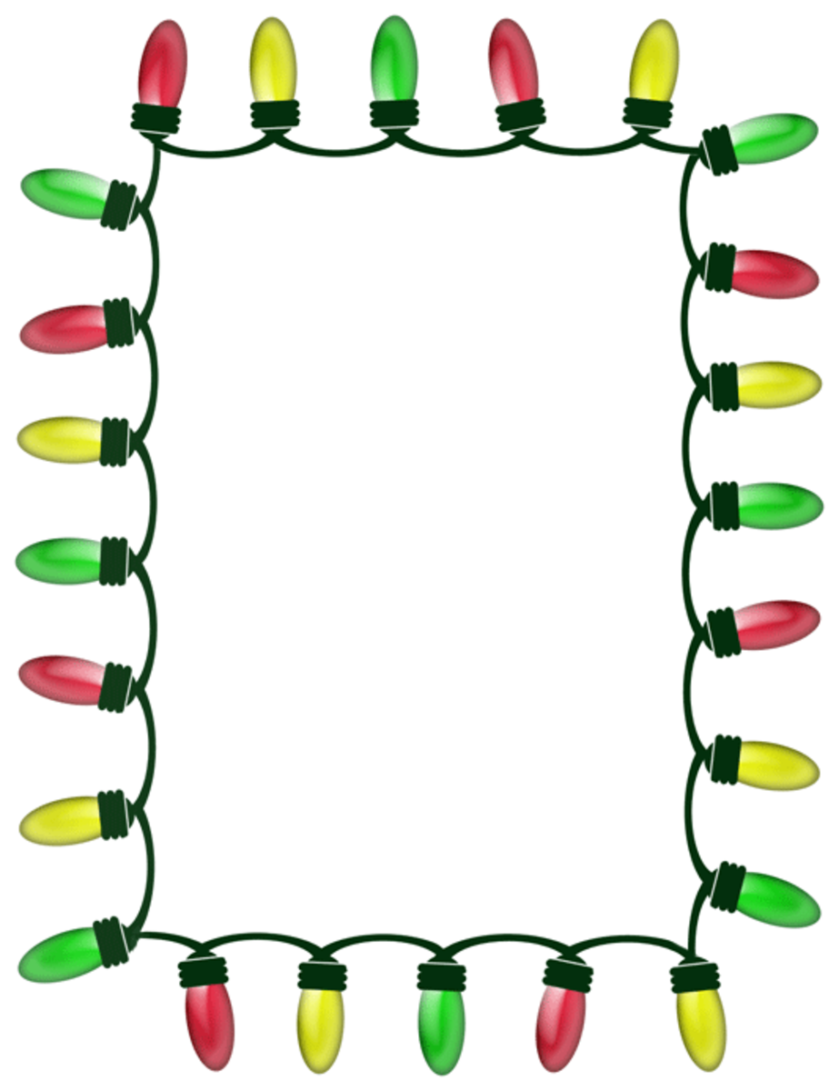 Holiday Lights Clipart Frame