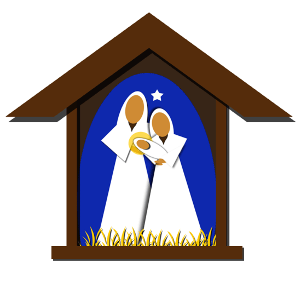 Christmas Nativity Scene Clipart Image