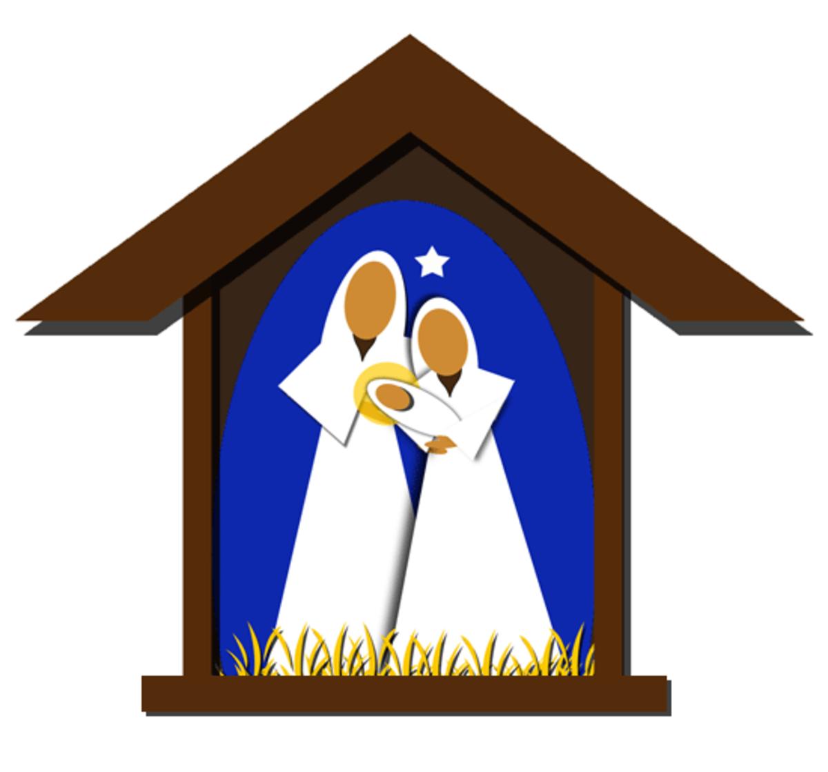 Christmas Nativity Scene Clipart Image