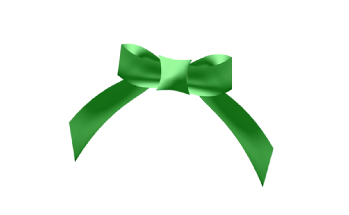 Green Christmas Gift Bow Clipart