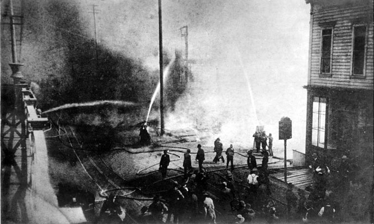 Great Fire Of Seattle in 1889.