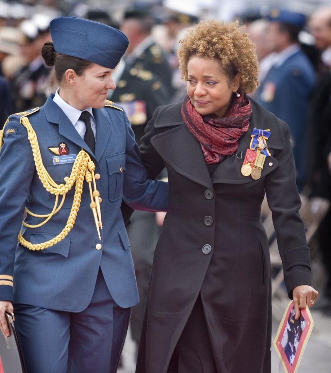 """'My smiles matched yours, and your tears matched mine.""   FROM GOV. GEN. MICHAELLE JEAN'S FAREWELL LETTER TO CANADIANS"