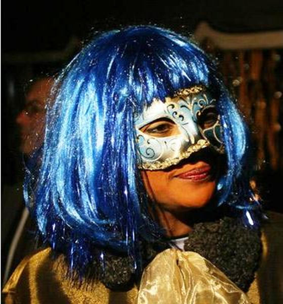 Michalle Jean as 'Winter Cleopatra' at a 2006 Rideau Hall Halloween gala