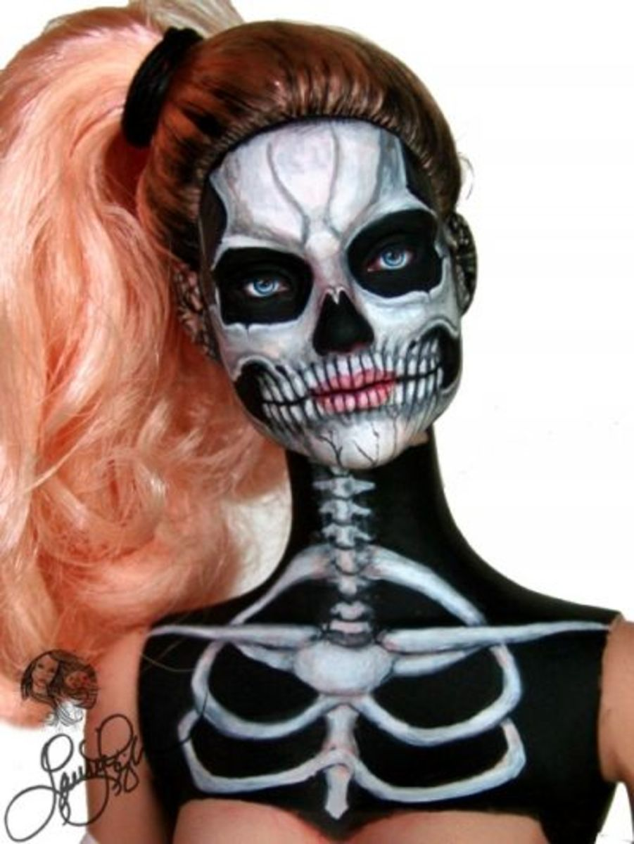 """Day Of The Dead Sugar Skull """"Calaca"""" by Laurie Leigh"""