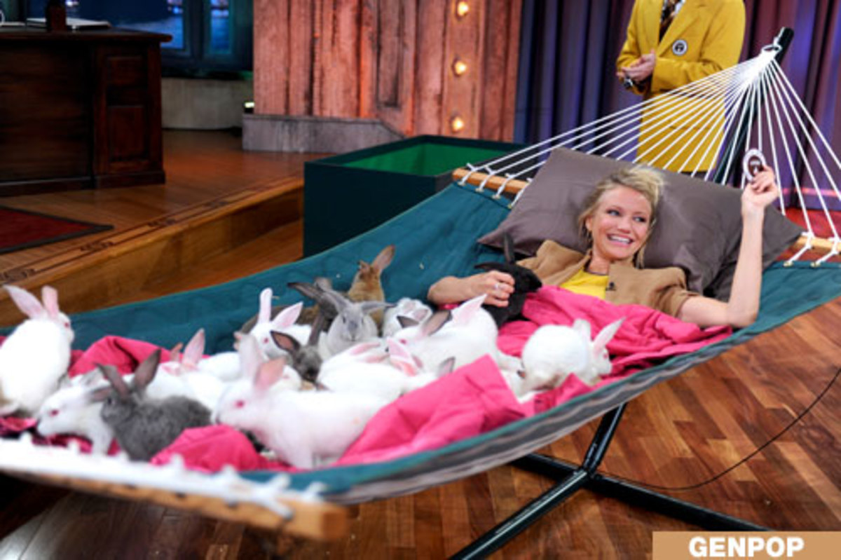Cameron Diaz and her hammock bunnies.