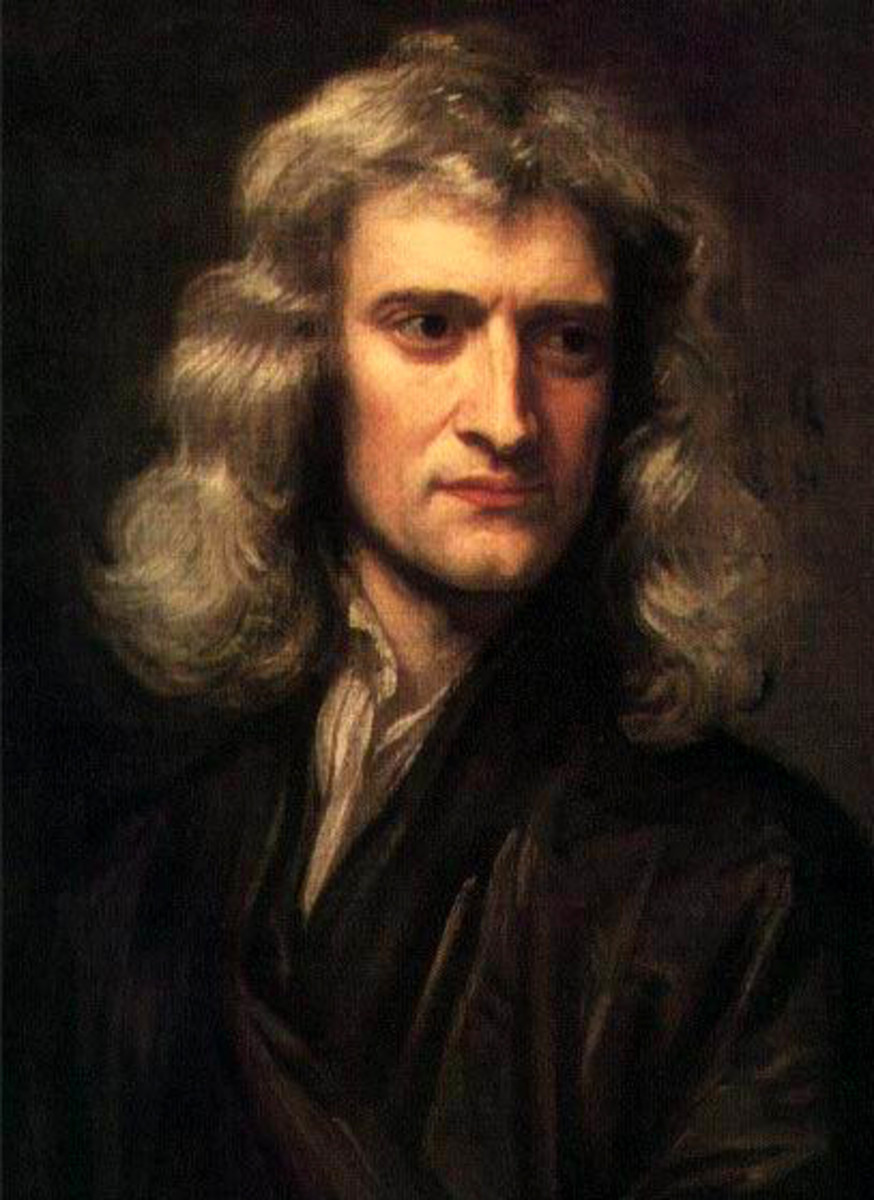 SIR ISAAC NEWTON (PAINTING BY GODFREY KNELLER)