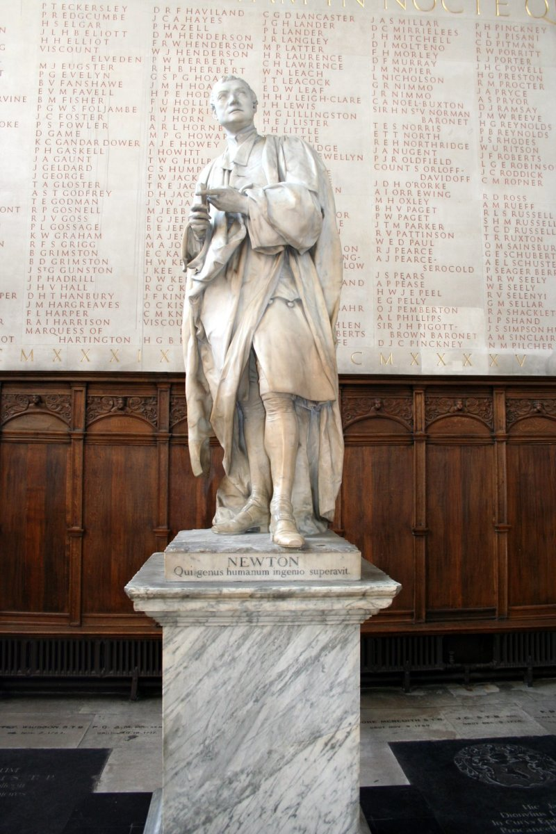 SIR ISAAC NEWTON STATUE AT OXFORD