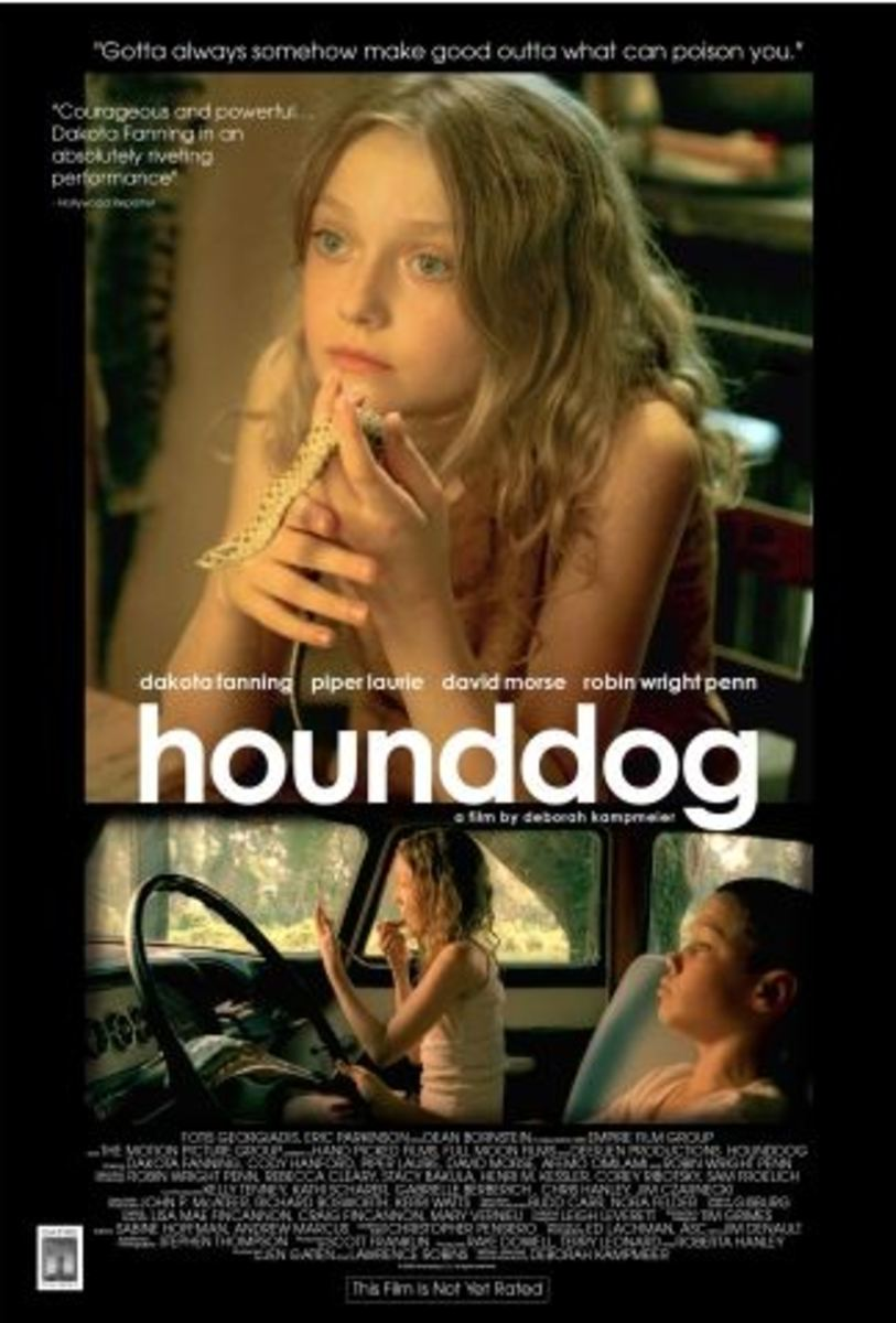 The film Hounddog is the story of a twelve-year-old rape victim, played by a twelve-year-old actress -- to much controversy. Dakota Fanning pulls off a magnificent performance. I saw this film and found nothing pornographic at all.