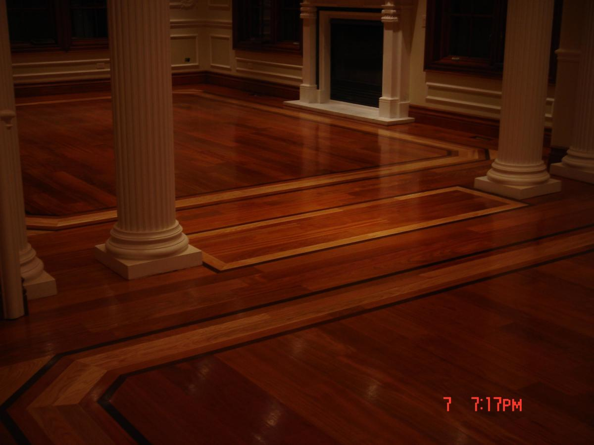 wood flooring design with inlay source
