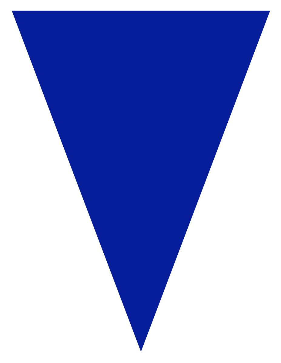 Free blank graduation flag -- blue