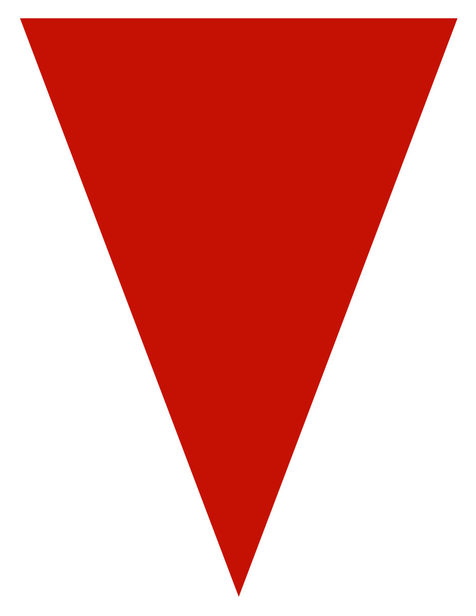 Blank graduation flag -- red