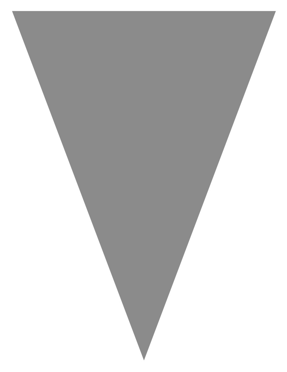 Blank graduation flag -- silver gray