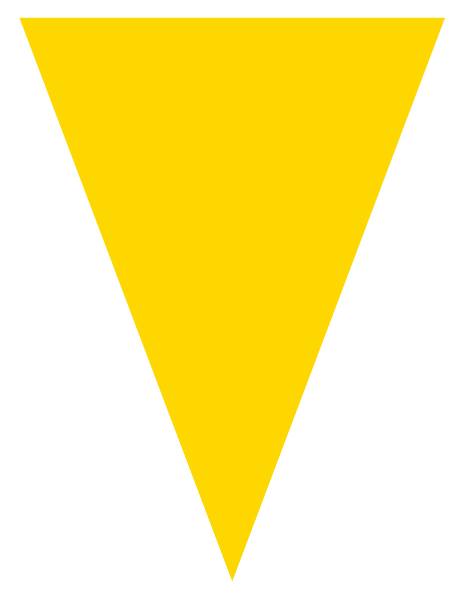 Blank graduation flag decoration -- yellow