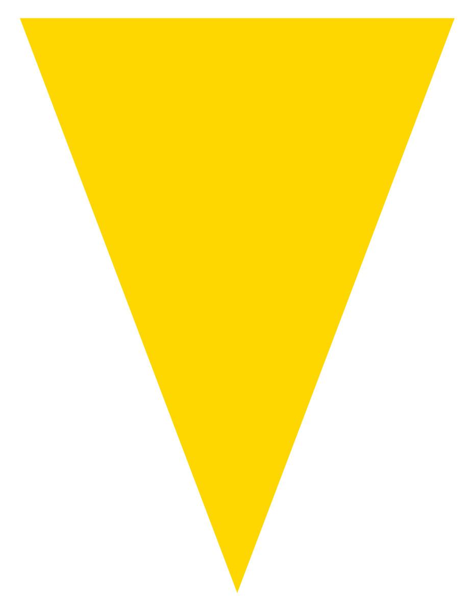 Blank graduation flag decoration -- yellow