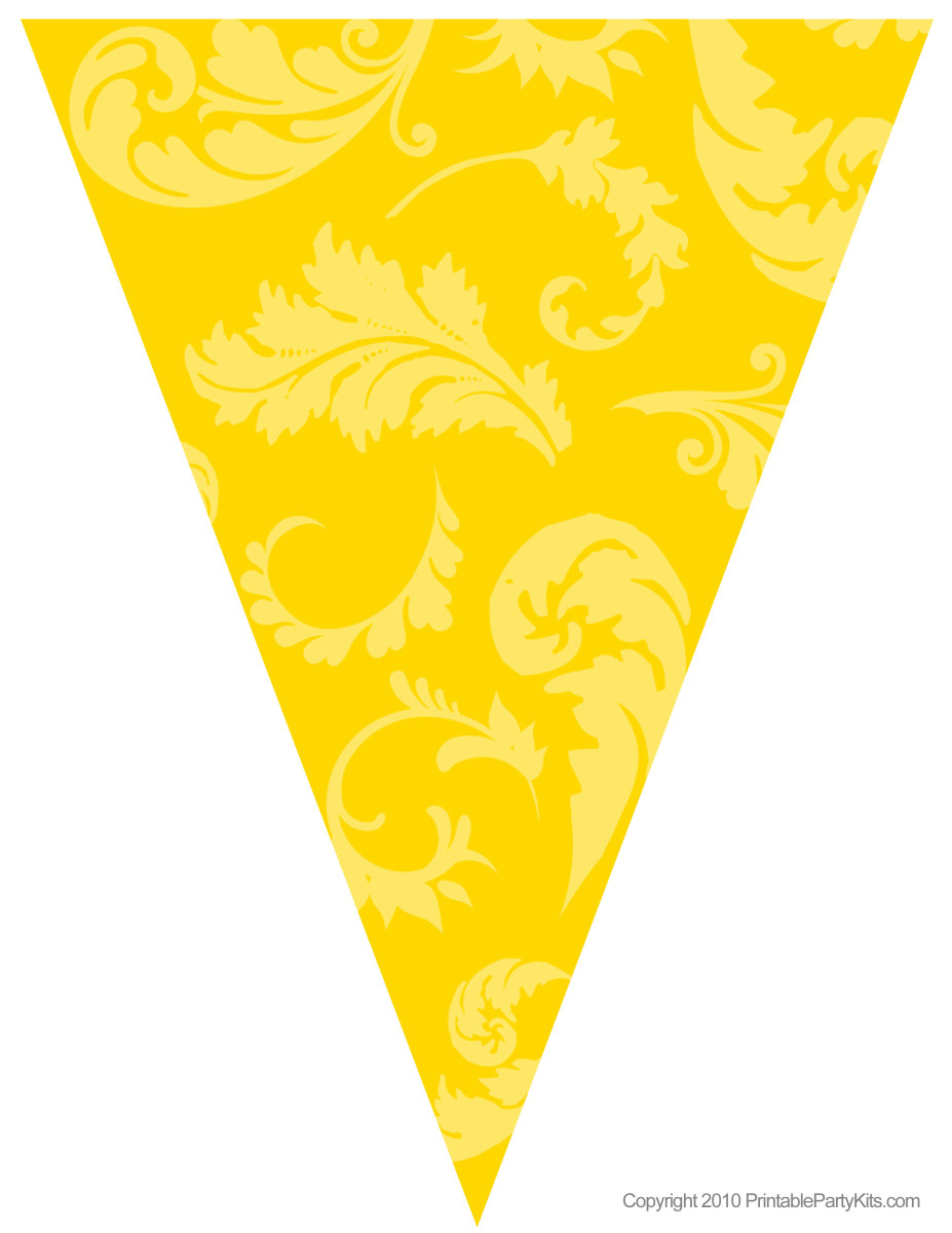 Free yellow floral graduation flag