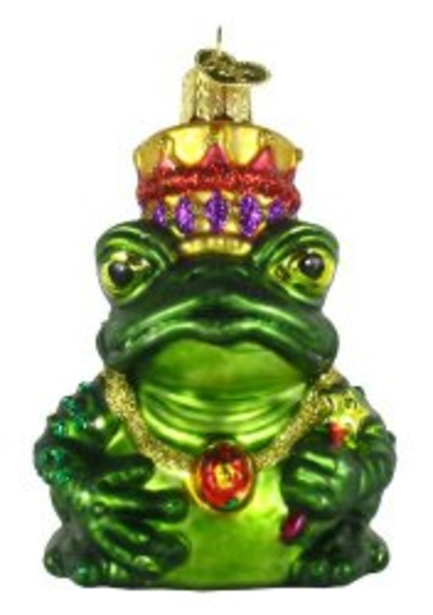 Old World Christmas Frog King Ornament