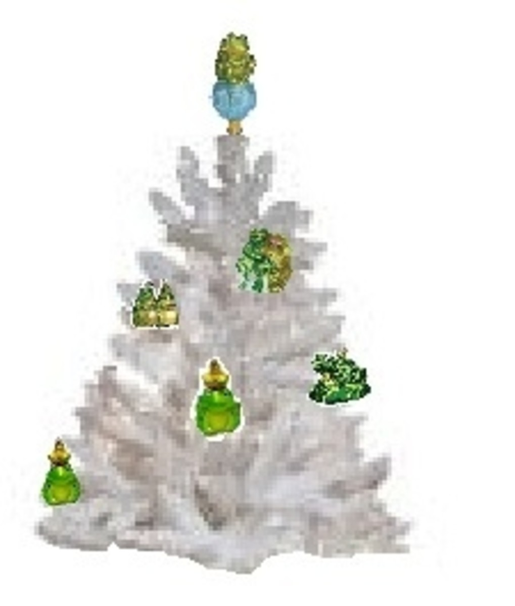 Christmas Trees full of Frogs
