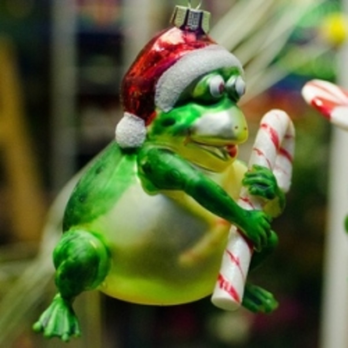 Christmas Frog Ornament