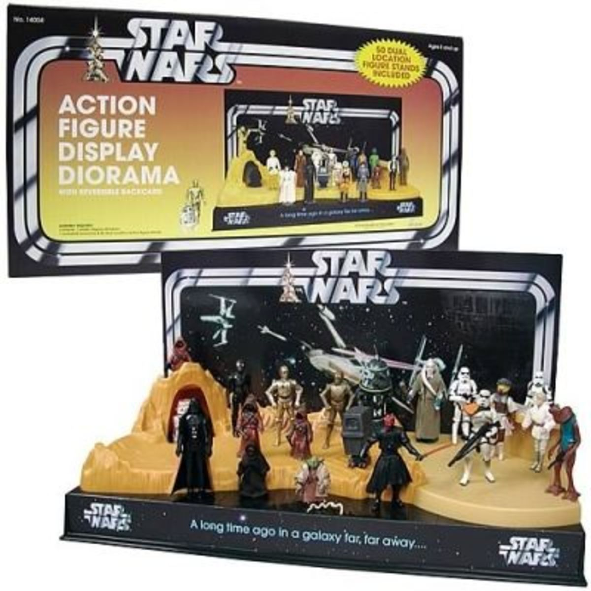 An action figure display diorama is a fun way to display your collectibles!